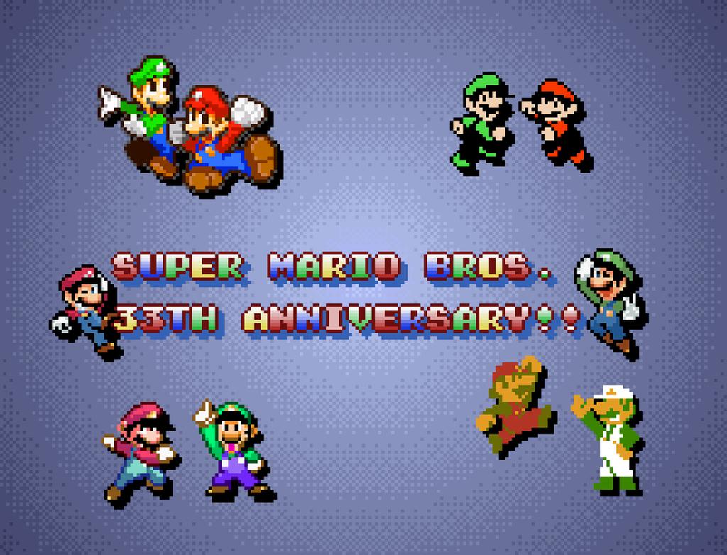 Super Mario Bros. 33th Anniversary!!!! by Hartflip0218