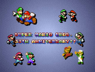 Super Mario Bros. 33th Anniversary!!!! by Hartflip0218