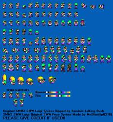 SMM2 SMW Luigi Original SMW Pose Sprite Sheet!! by Hartflip0218