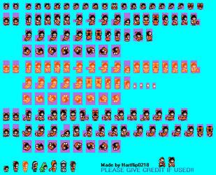 SMB3 Style Reimu Hakurei Sprite sheet(ver.2) by Hartflip0218