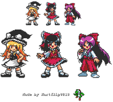 Custom Touhou Characters sprites
