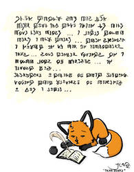 What are you writing lil fox?