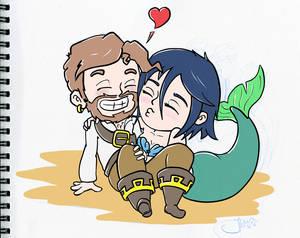 Captain Barnacle Beard and the Beloved Mermaid wip