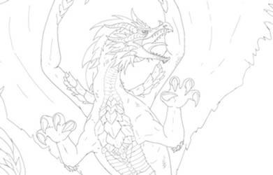 Dragon Drawing 20170608_1 detail
