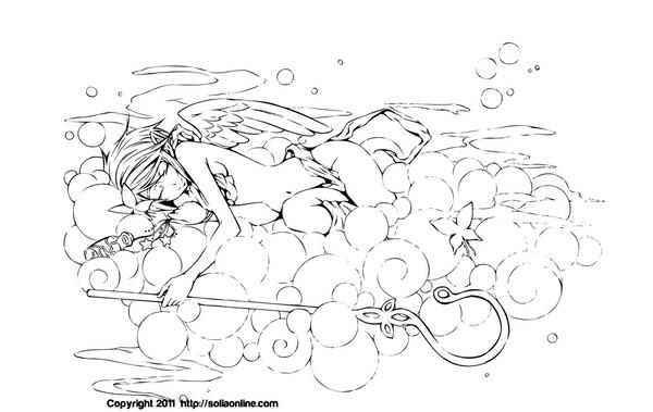 Vocaloid Group Coloring Pages Coloring page: dancrgurl by