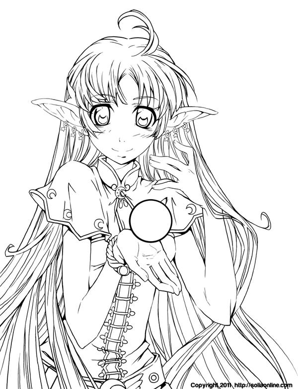 anime people coloring pages - photo#16