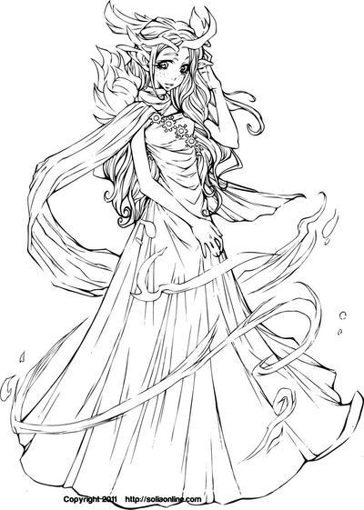 anime coloring pages deviantart dart - photo#11
