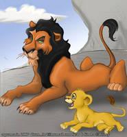 Scar and Simba by Aquamarin