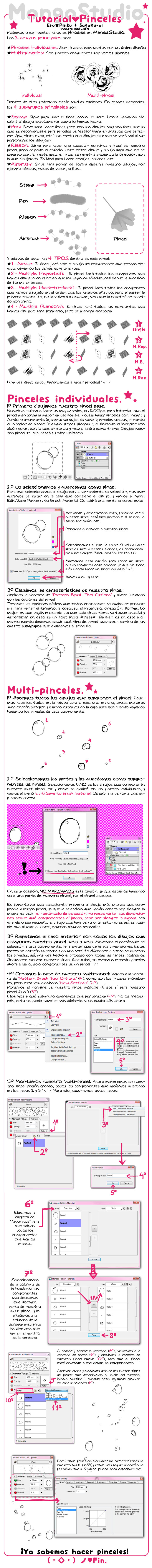 Tutorial - Pinceles (MangaStudio) SPANISH by Ero-Pinku