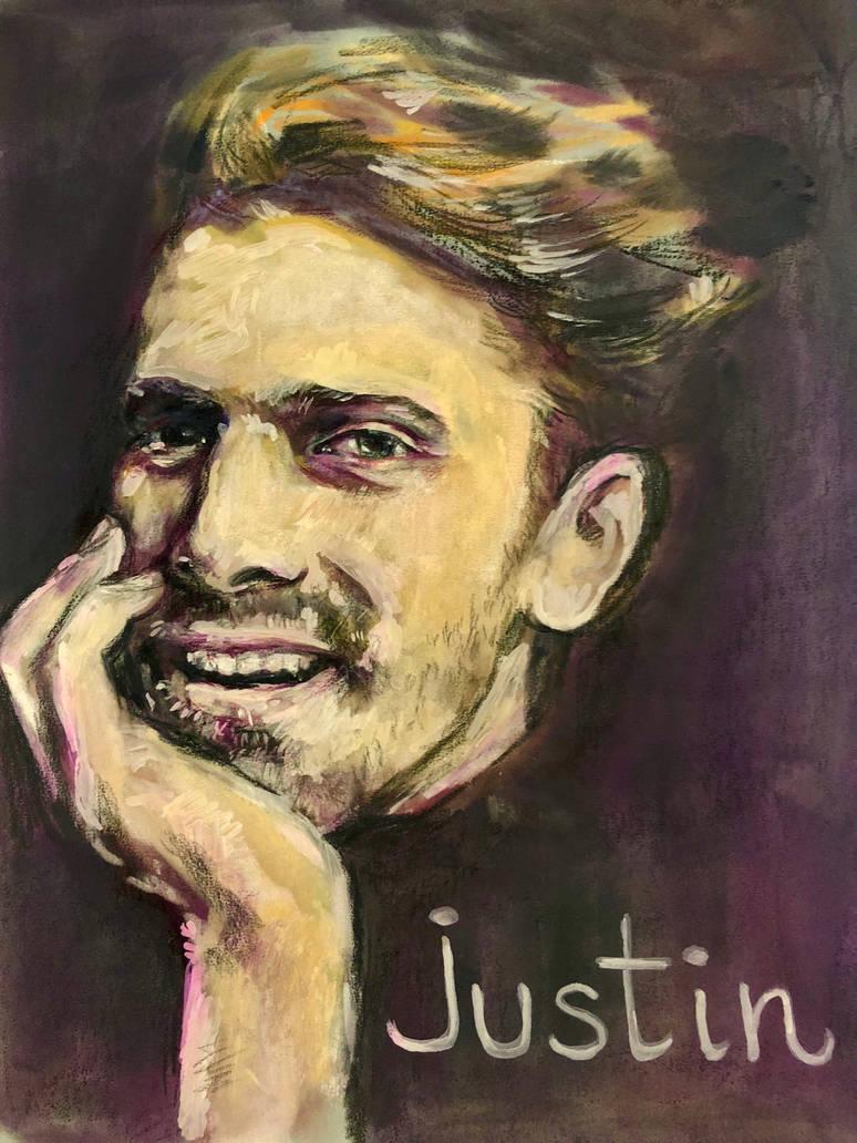 Justin portrait  by deadvalentines17
