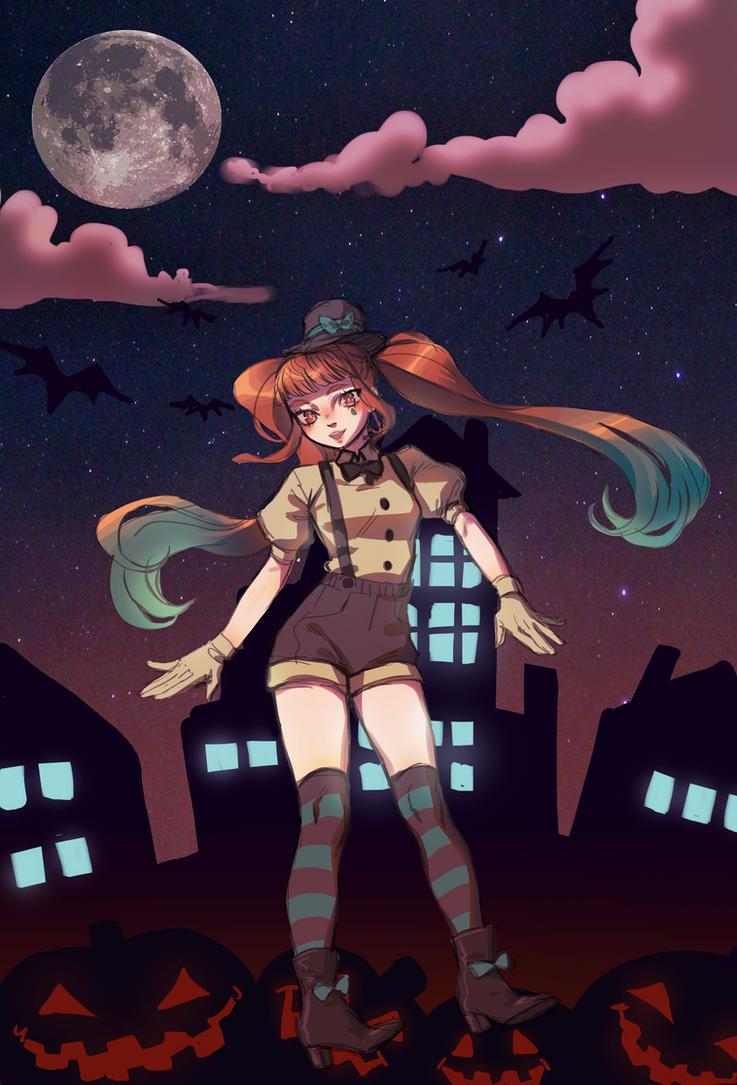 Mrs. Pumpkin's Comical Dream! +speedpaint by vellmoone