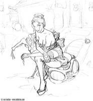 Hoverscooter by BenTanArt