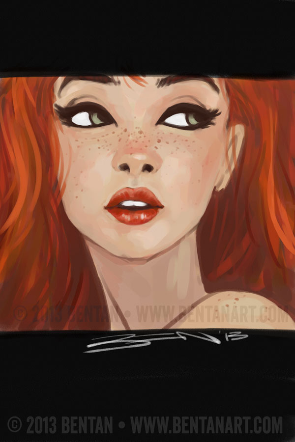Red Headed Cartoon Characters Female S : Freckles final by bentanart on deviantart