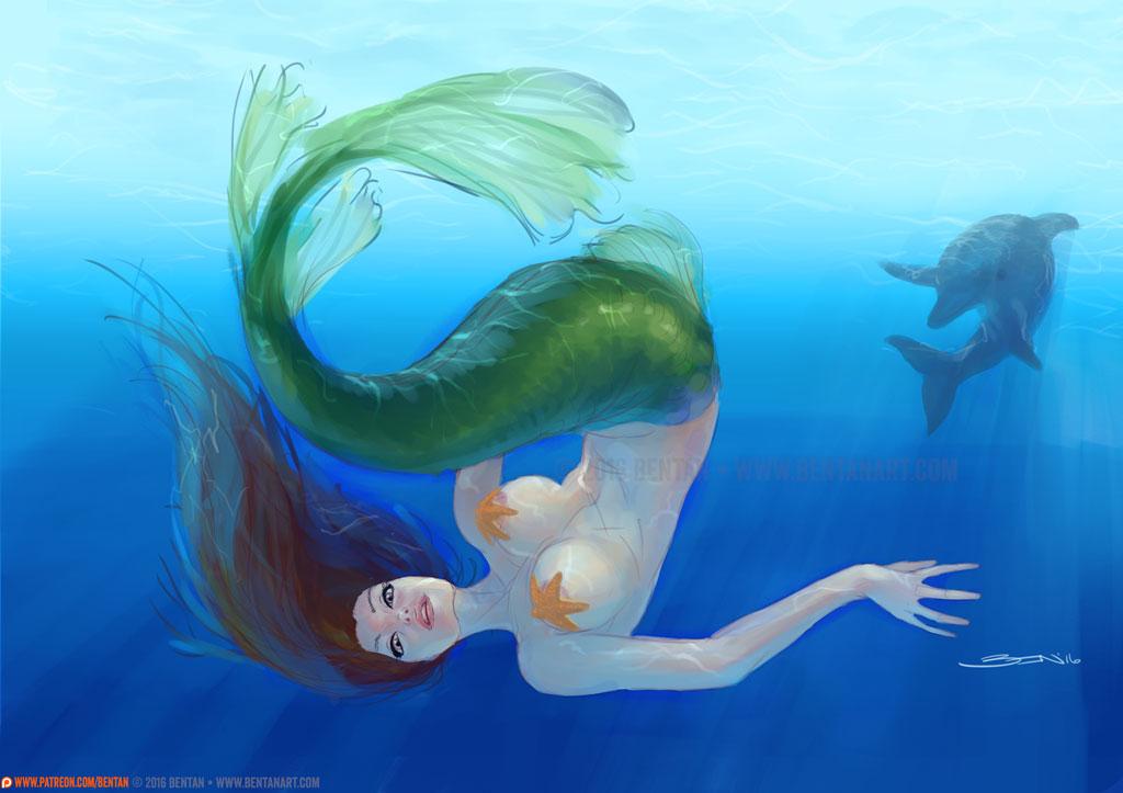 COMMISSION: Mermaid by BenTanArt