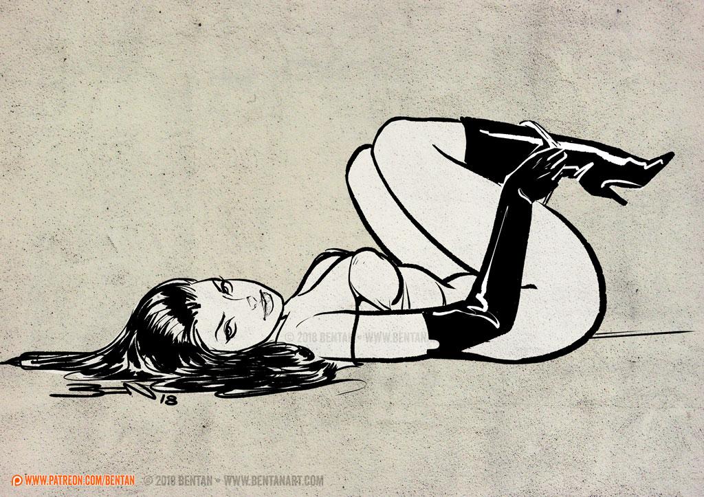 Floor Exercise by BenTanArt
