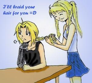 + Braid your hair + FMA by crying-shinigami