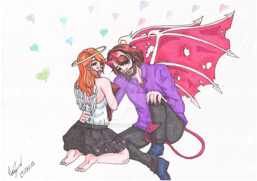 Image Ange Et Demon ange et demonmorguinwou on deviantart