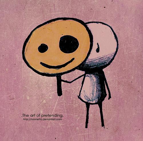 .The art of pretending.