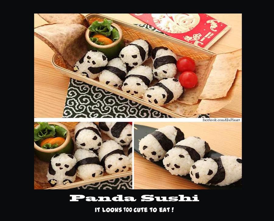 Panda sushi by Trabbii