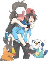 Touya and Touko by AkihikoHex