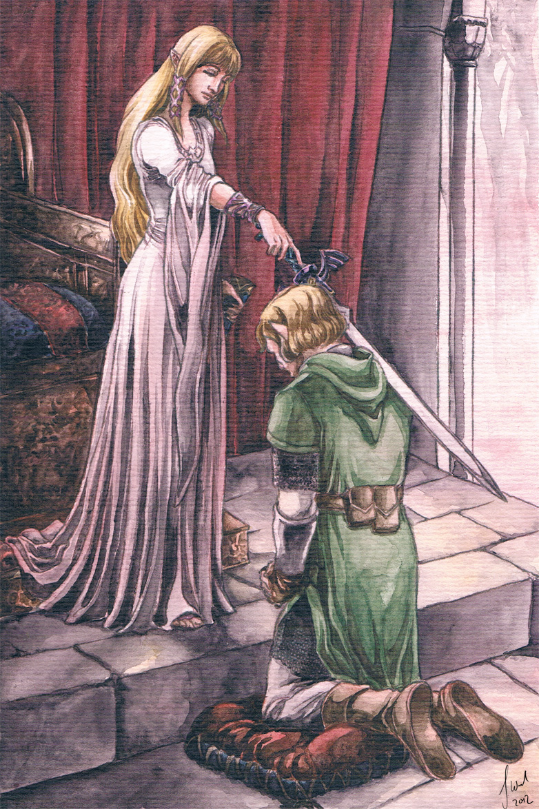 Link's Knighting by Toradh