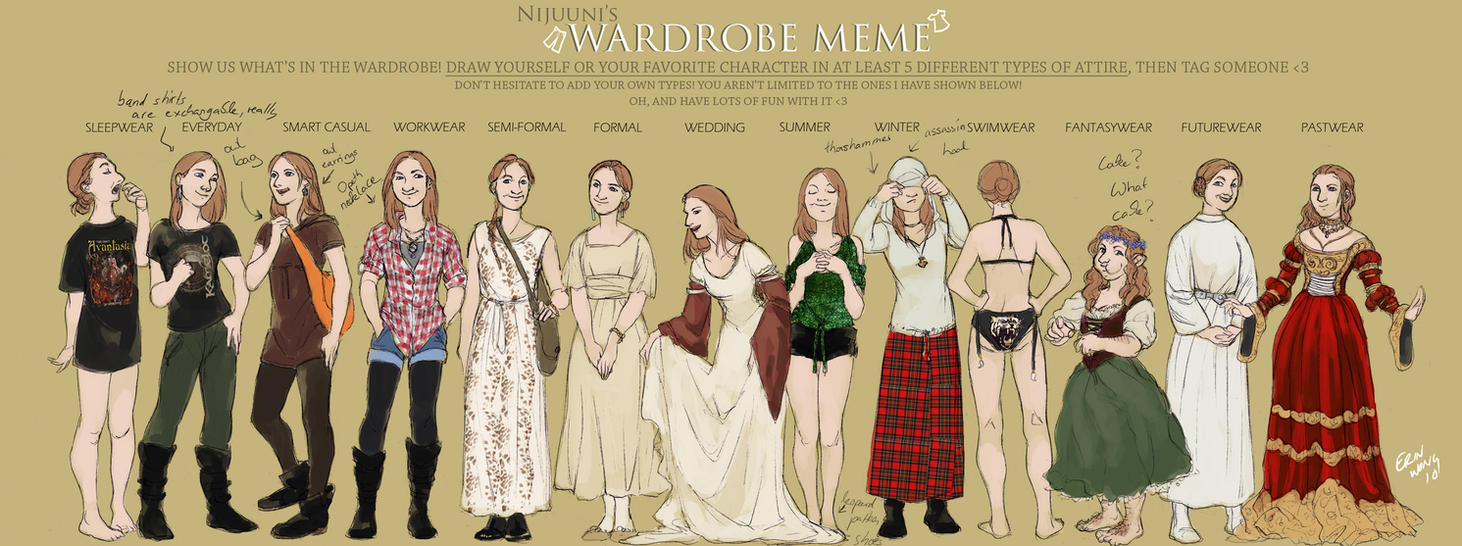 Wardrobe meme another update by Toradh