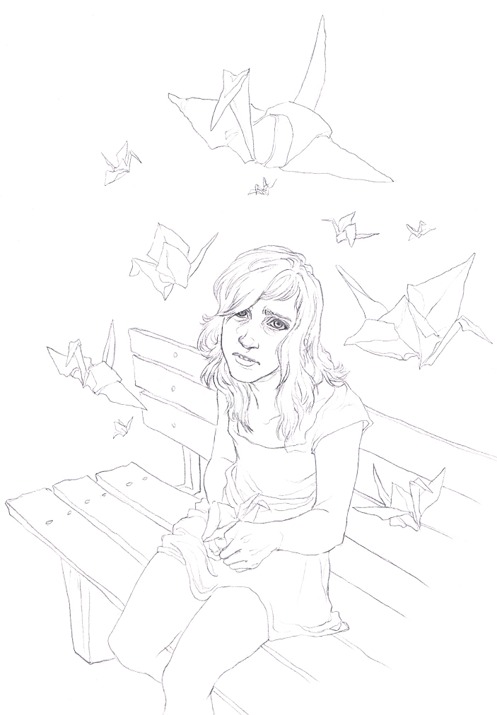 A 1000 Paper Cranes Lineart by Toradh