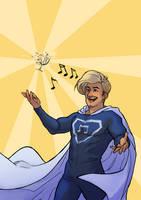 Gaston The Singing Superhero by Toradh