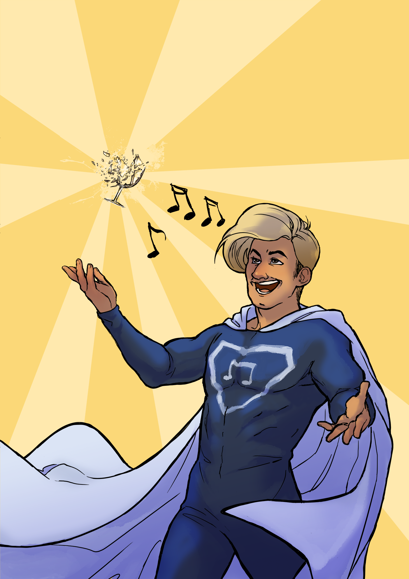 Gaston The Singing Superhero by Toradh