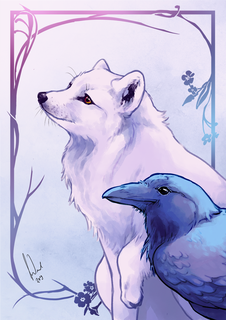 Fox and Raven by Toradh