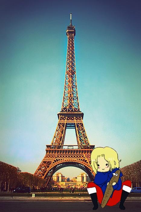 Hetalia - France dans Paris by PucchiPuchi