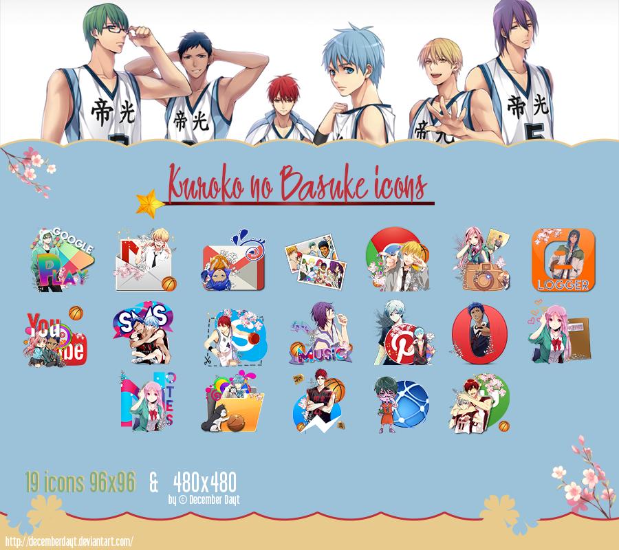 Kuroko no Basuke icon pack by DecemberDayt