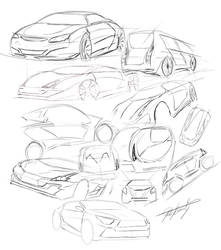 car sketches by 709DESIGN