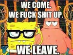 Badass Spongebob and Patrick