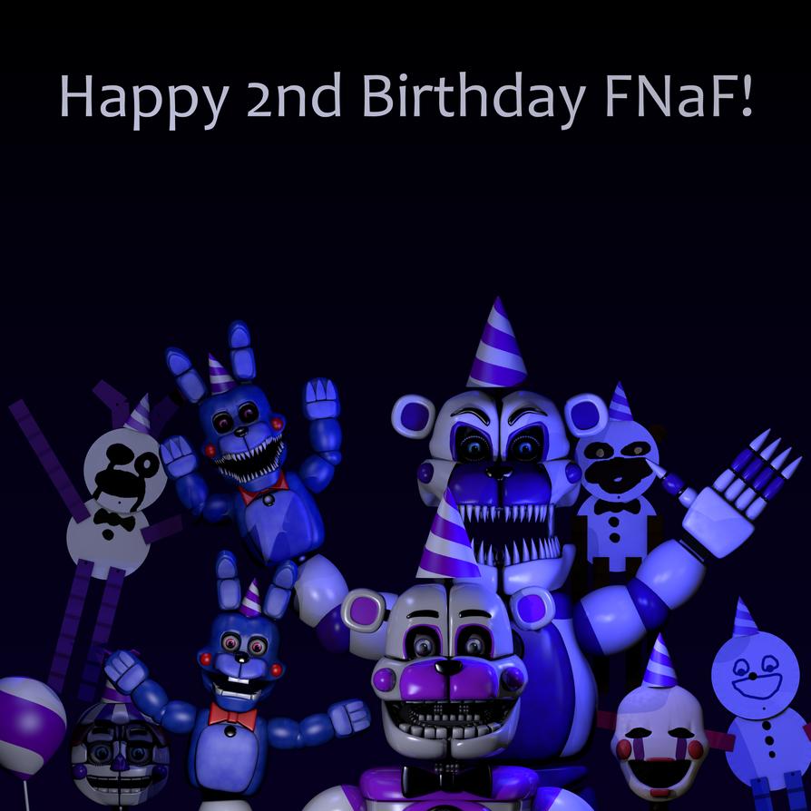 Happy 2nd Birthday FNaF! By Jorjimodels On DeviantArt