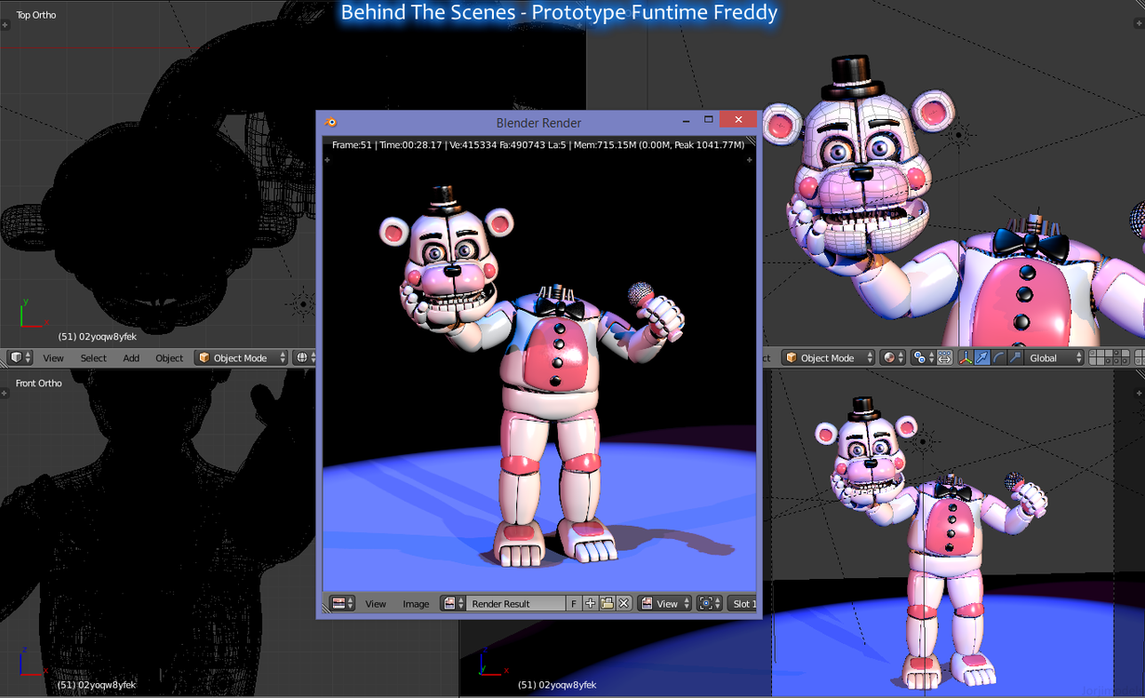 Funtime Freddy Model Cd4 By Santientretainment Deviantart