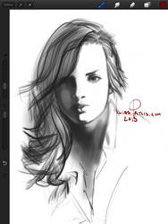 iPad portrait of a girl by iliasPatlis