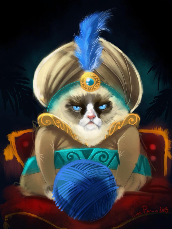 Grumpy cat sultan (iPad) by iliasPatlis