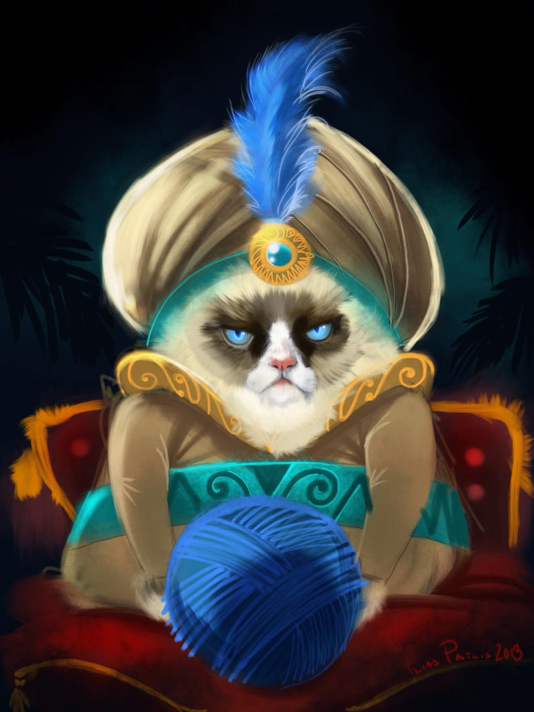 Grumpy cat sultan (iPad) by iliasPatlis