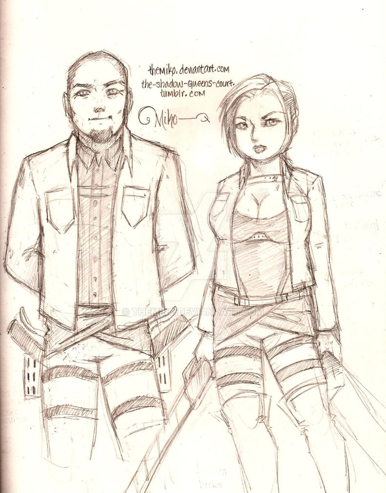 fall 2014-Normal and I as scouts by TheMiko