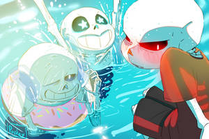 Sans Sumertime Swimming by Poetax