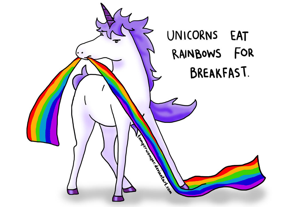 Unicorns Eat Rainbows by TomperWomper