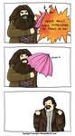 Woah Hagrid. Put down the umbrella, man.