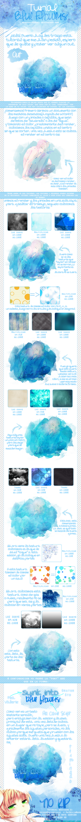 Tutorial ~Blue Flowers~ by Lonely-Sheep
