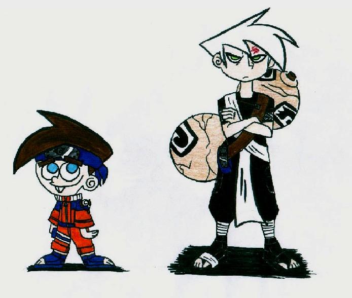Danny Phantom Timmy Gaara Danny Naruto Timmy by