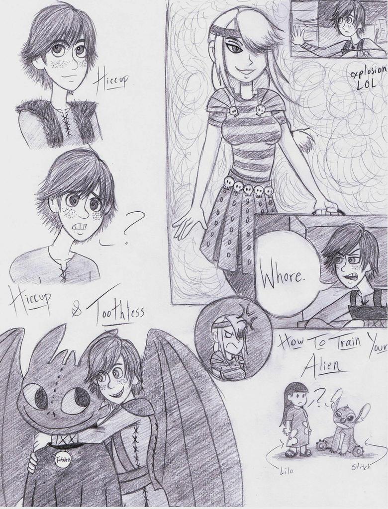 HTTYD sketch dump by dreamer45