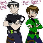 Ben 10K and Kevin 11K doodle