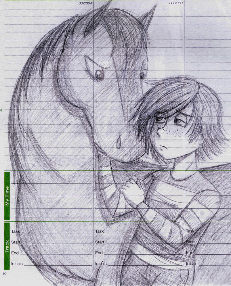 Hiccup and Horse Toothless by dreamer45