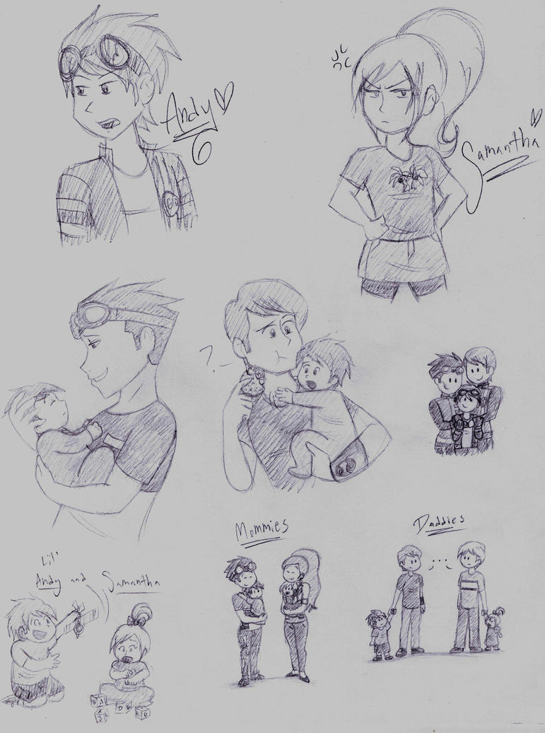 Heroes United: BenXRex and NoahXClaire families by dreamer45