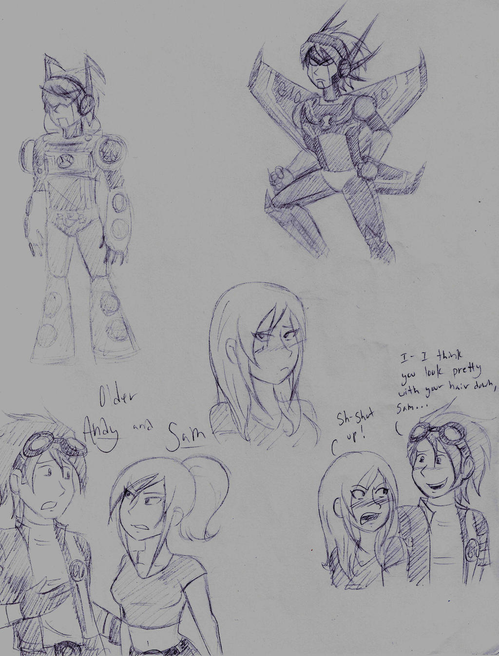 Andy and Sam doodles by dreamer45